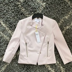 BCBGeneration tailored faux leather jacket
